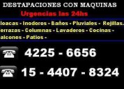 Destapaciones con maquinas  lanus 4225-6656  toda  zona sur
