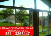 Laminas espejadas, control solar y seguridad.