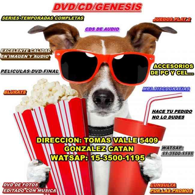 DVDCDGENESIS VENTA POR MAYOR Y MENOR ZONA OESTE
