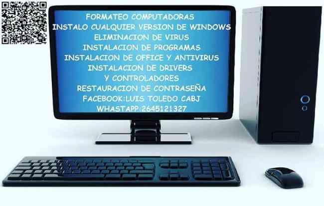 Formateo computadoras etc