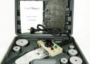 Termofusora 800w + 6 boquillas + soporte + valija $850