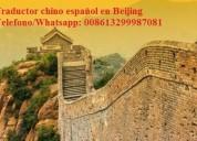 Guia traductor chino español en beijing, china