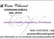 Contadora cintia villarruel – matrÍcula nro. 19.01