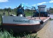 Barco casco acero de carga fluvial