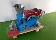 Maquina meelko para pellets con madera 120 mm eléc