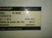 Placa microondas sharp r-3a55