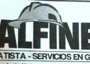 Alfine contratista servicios grales en punta alta.