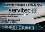 Servicios técnico en aire electricidad