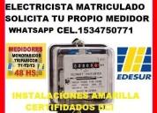 Electricista matriculado avellaneda tel.1534750771