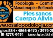 Podologia cosmiatria  masajes descontracturantes