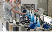 Productos químicos industriales a fason, botellas,