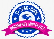 Colegiales mini fletes 24 hs, traslados transporte