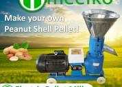 maquina meelko para pellets con madera mkfd150b