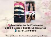 Tratamiento de electrodos 1 sesión 200$ 10ses1500$