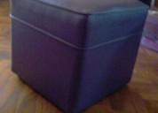 Vendo 2 puffs cuero violeta
