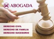 abogado - derecho de familia, civil, sucesorio
