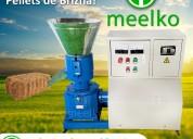 maquina meelko para pellets con madera 200 mm elec