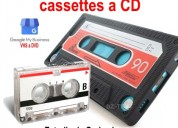 Audio cassette a cd.