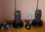 Dos radios motorola uhf