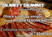 Revendedor a de salame colonia caroya