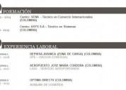 Necesito trabajar con nacionalidad colombiana