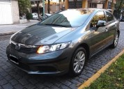 Honda civic 2012 lxs automatico full impecable 69 000 kms titular 69000 kms cars