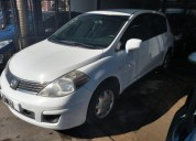 Nissan tiida 1 8 visia 5p full 2008 c gnc impecable cars