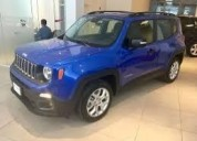 Tene jeep 100 renegade sport 0km financiados entrega inmediata cars