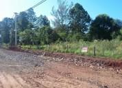 Terreno sobre ruta candelaria barrio del lago en posadas