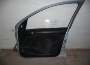 Puerta delantera izquierda peugeot 206 2008 negra repuestos