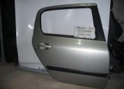 Puerta trasera derecha peugeot 307 2008 gris plata repuestos