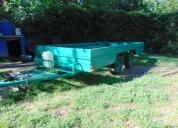 Vendo trailer doble eje balancin rod 14 x casa rodante