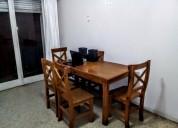 Oportunidad, mesa de pino 1,60 x 0,80 6 sillas ref
