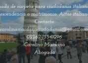 Armado de carpeta para ciudadanía italiana