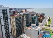 1 ambiente y medio con vista al mar edificio con seguridad en mar del plata