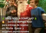Papa noel para entrwga de regalos a dom bs as