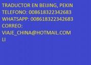 Guia traductor chino español en beijing, pekin tod