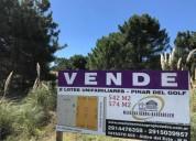 Lote en venta 550 m2 lotes unifamiliares linderos en pinar del golf 1 dormitorios