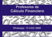 Clases particulares y cursos de cÁlculo financiero