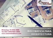 Clases particulares matemática ii de arquitectura
