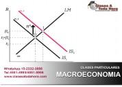 Clases particulares de macroeconomía y política ec