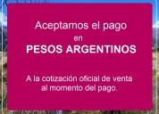 """Promoción """"pasa-palabra"""". Últimos 3 terrenos.pesos"""