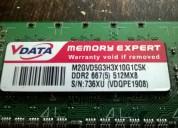 Vendo memorias de pc ddr y ddr2 funcionando
