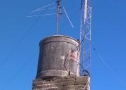 Vendo torre radioaficionado 13 mts y ringo vhf