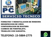 Tecnico de pc y notebooks a domicilio en mataderos