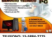 Agronomia-servicios informaticos-reparacion- pc-notebooks- a domicilio en agronomia