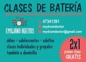 Clases de batería villa bosch, caseros, s. martín