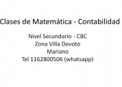 Clases de matemática contabilidad