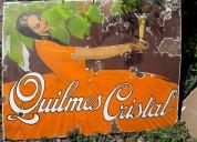 Cartel antiguo quilmes cristal