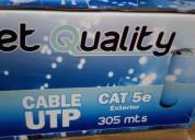 Cable utp cat.5e exterior en caja de 305m